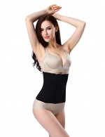 Medium Control Black Hooks 7 Bones Girdle Corset Body Shaper