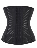 Hollow Out 9 Steel Boned Plus Size High Waist Body Shaper