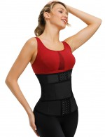 Neoprene-fitted rubber three-breasted single belt one-piece velcro