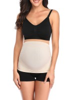 Women Skin Color Pregnant Belly Band High-Low Hem Seamless Mature Women