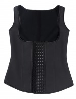 Fabulous Fit Black 4 Hooks Latex Thermal Waist Cincher Vest