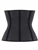 Post Surgery Black Holes 9 Steel Bone Latex Fitness Waist Cincher
