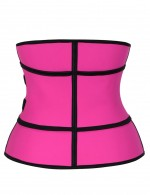 Rose Red Queen Size Latex Waist Trainer With Zipping Custom Logo