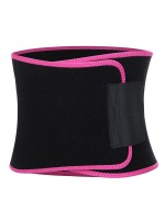Rose Red Neoprene Waist Trainer Belt With Sticker Waist Control