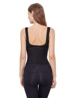 Sculpting Black Solid Color Postpartum Abdominal Band Waist Trimmer