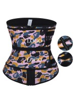 Exercise Latex Waist Trainer Camo Double Belts Weight Loss