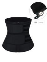 YKK Zipper Black Sticker Latex Double-Belt Waist Trainer Compression Silhouette