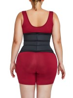 Slimming Belly Black Plus Size Three Detachable Belts Waist Trainer