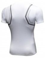 Stunning White Dry Miler Short Sleeve Athletic Top Fashion Insider