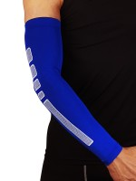 Slim Legs Blue Non-Slip Insert Arm Sleeves Barcer For Runner