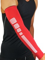 Dazzles Red Antiskid Strip Barcer Arm Protection Fashion