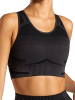 Slimming Fit Black Knit Seamless Active Bra Removable Pad