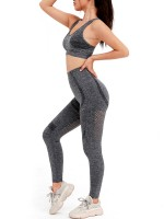 Tight Dark Gray Wide Strap Top High Rise Leggings Kinetic Fashion
