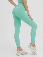 Flexible Green Full Length Sweatsuit Slender Strap Casual Clothing