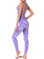 Online Purple Camouflage Print Sweat Suit Sleeveless For Girls