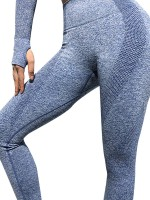 Particularly Blue Ankle Length Mid-Rise Yoga Leggings Ladies