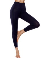 Exquisite Navy Wide Waistband Elastic Sport Leggings Activewear