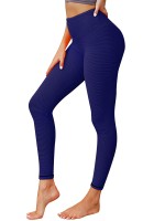 Beautifully Designed Blue Running Legging High Waist Ruched Activewear