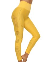 Fresh Yellow Ankle Length Seamless Yoga Leggings Sport Series