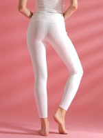 Lightweight White Yoga Leggings High Waist With Pockets Casual Clothes