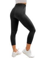 Slimming Fit Black 3/4 Athletic Legging Lift Butt Seamless For Ladies