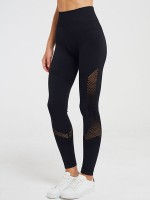 Luscious Black High Waist Yoga Legging Hollow Out Elastic