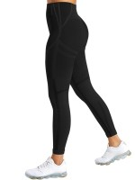 Curvy Black Seamless Sports Leggings High Rise Outdoor Activity