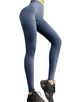 Powerful Blue Seamless Butt Lifting Sports Legging For Romans