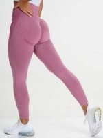 Captivating Pink Ankle Length Seamless Workout Leggings