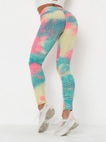 Cutie Ruched Legging Ankle-Length Jacquard Ladies Activewear