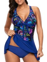 Super Crisscross Back Swimsuit Patchwork Strap Beach Playing Time