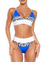 Premium Quality Patchwork Bikini Strap High Waist Women Outfits