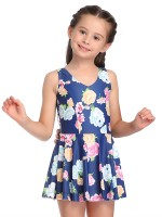 Favorite Pink Ruched One-Piece Mom Kid Beachwear U Neck Fashion Swimwear