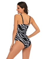 Sexy Ladies Wireless Beachwear Open Back Plunge Neck All-Match Fashion