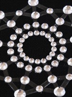 Super Sexy White Silica Gel Rhinestone Nipple Stickers For Lady