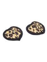 Cheap Romamce Pasties Bra Leopard Paint Silicone For Dreamgirl