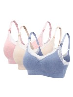 Women's 3 Pack Lace Straps Maternity Bras Lightweight