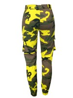 Camouflage Print Pants With Waist Belt Fashion For Women
