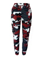 Exotic High Waist Jogger Cargo Camo Pants All-Match Style
