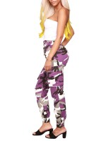 Invigorative Camo Joggers Cargo Pants With Pockets Elasticity