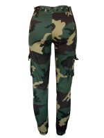 Enthusiastic Camouflage High Waisted Jogger Pants Womens Trendy Clothes