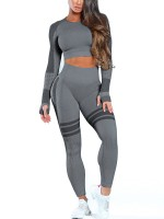 Large Bust Black Mesh Patchwork Sport Suit Fashionable Design