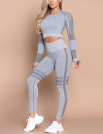 Women's Light  Long-sleeved Round Neck Sports Suit