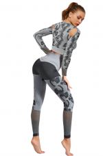 Funny Gray Camouflage Paint Sweat Suits Fashion Ideas