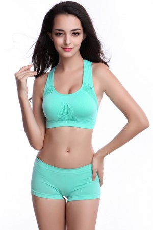 Aquamarine H Back Women Sports Bra