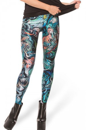 Dazzling Mix Color Print Pencil Leggings
