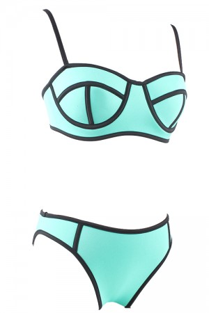 Boldly Bright Blue Supportive Bathing Suits Adjustable Straps