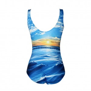 Attractive Seaside One Piece Sunrise Bathing Suits Monokinis