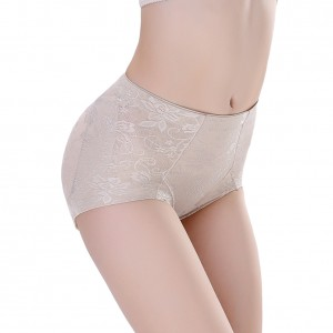 Nude Chinlon Floral Pattern Stretchy Butt Lift