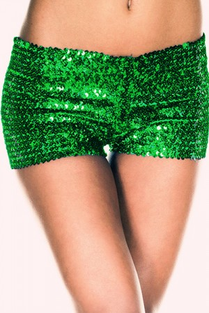 Green Sequins G-String Panty For Woman